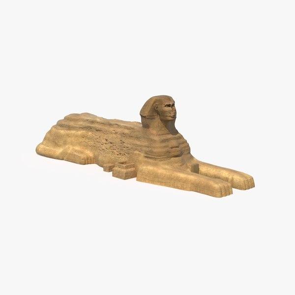 great sphinx giza 3d max