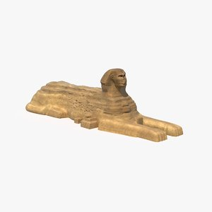 great sphinx giza 3d max
