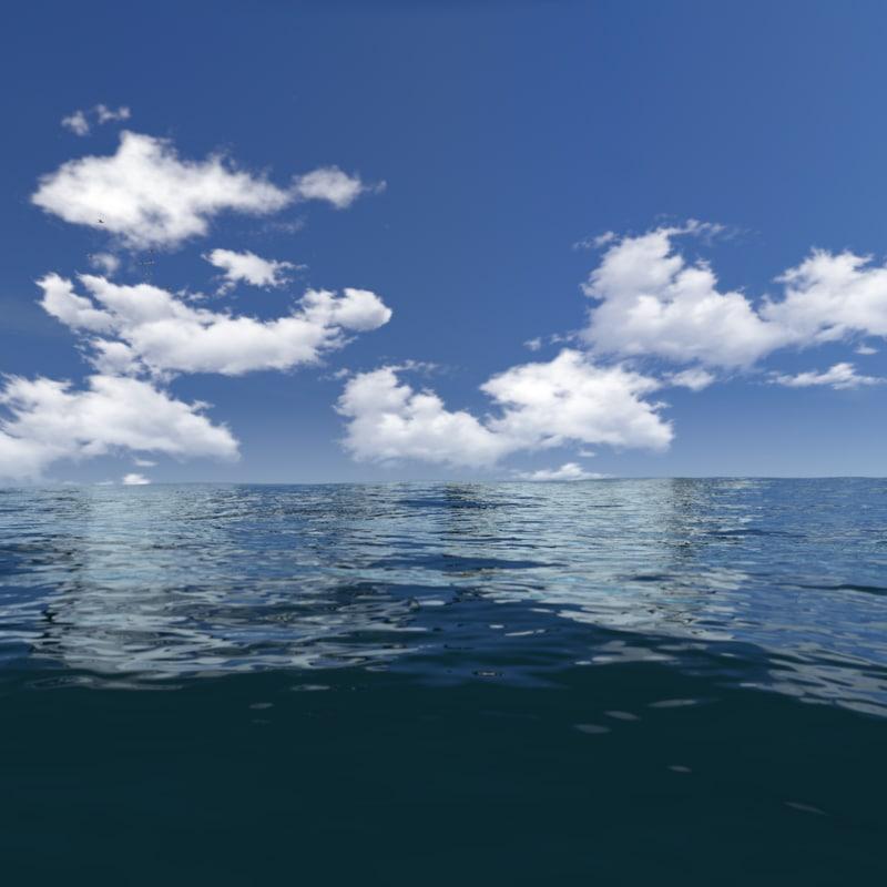 ocean 3d blend