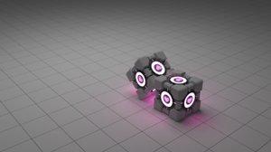 3d companion cube portal