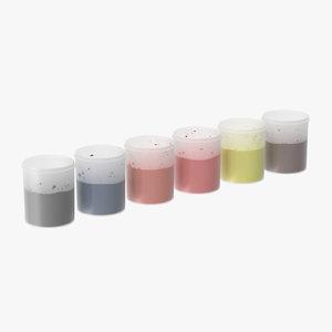 3d paint plastic cups