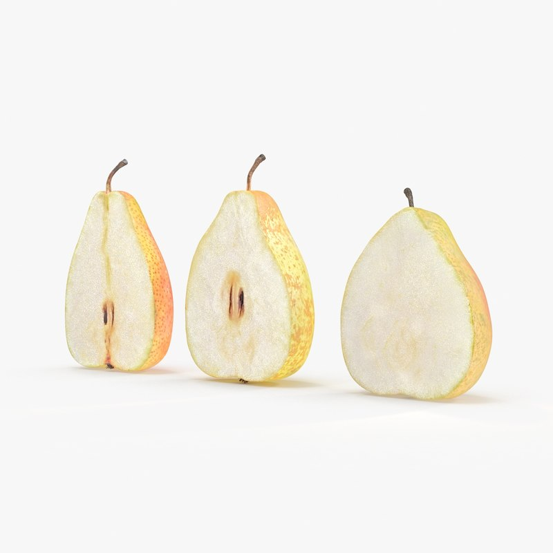 3d pear cross section