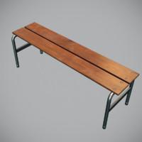 3d model v-ray bench