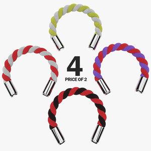 3d c4d caliber bullet bracelets colors