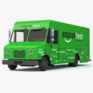 amazon fresh delivery truck 3d model