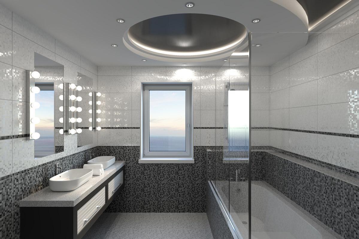 bathroom interior 01 3d max