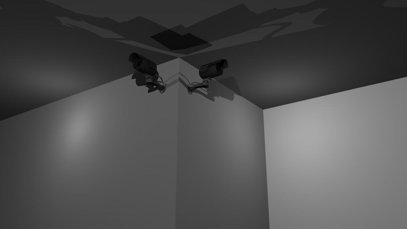 security camera 3d model
