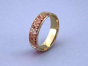 3d jewellery ring pattern
