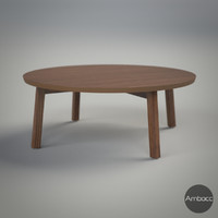 IKEA Inspired STOCKHOLM Coffee Table, Walnut Veneer - 93x35cm