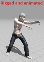 3d zombie rigged animations