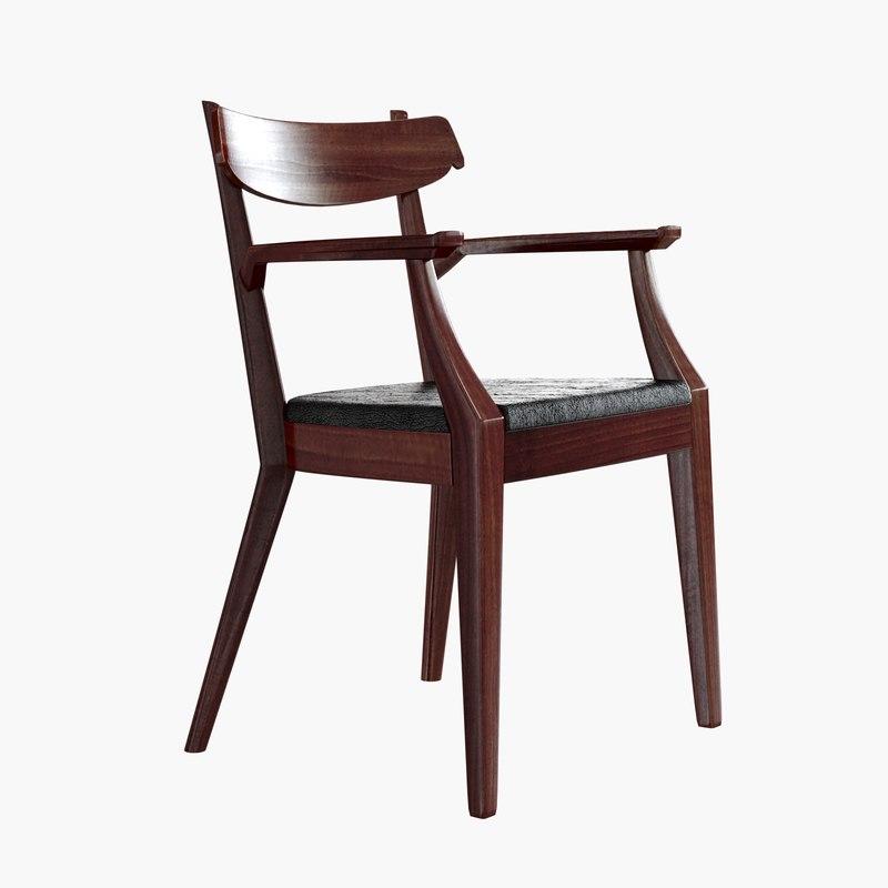 century drexel arm chair 3d max