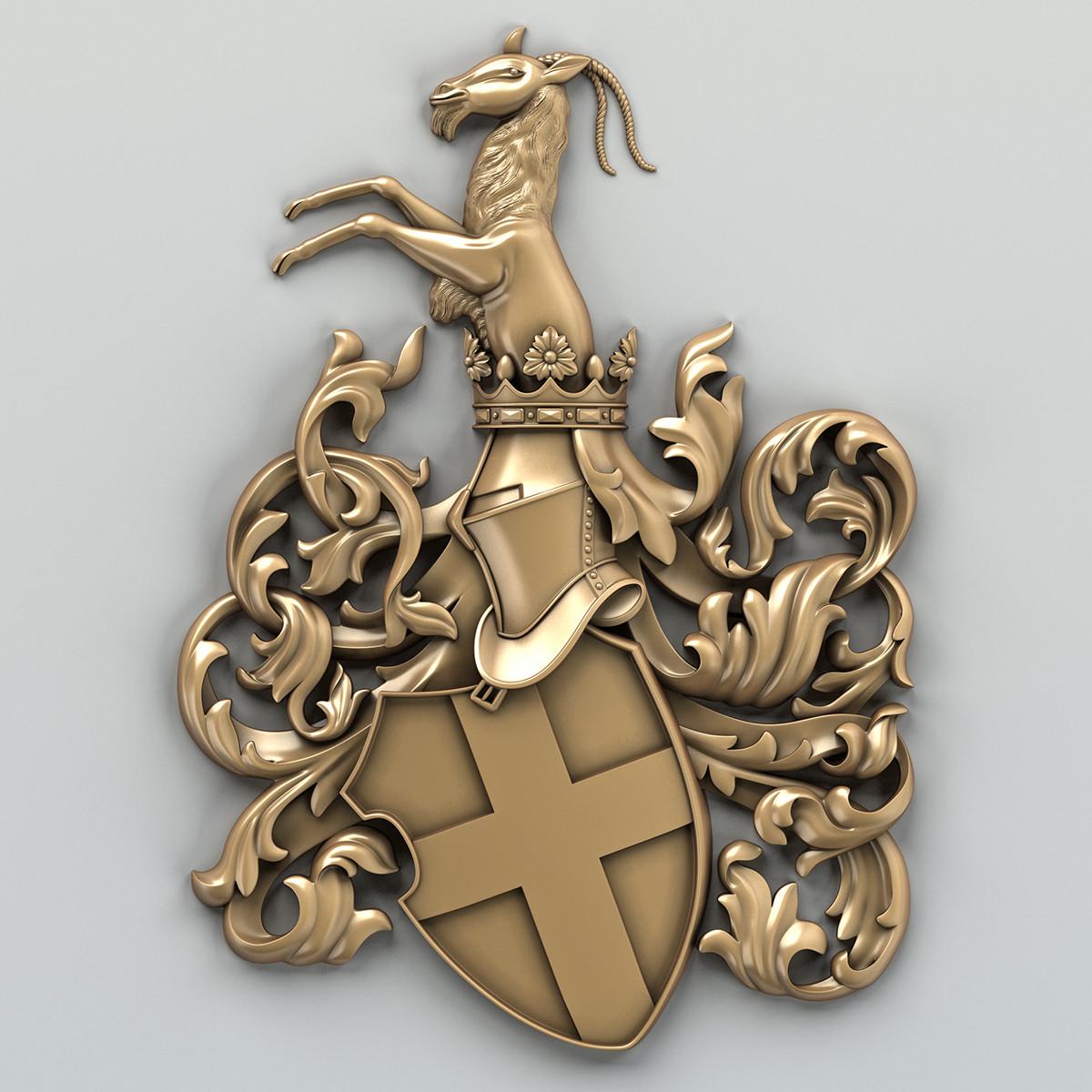 3d model decorative coat arms