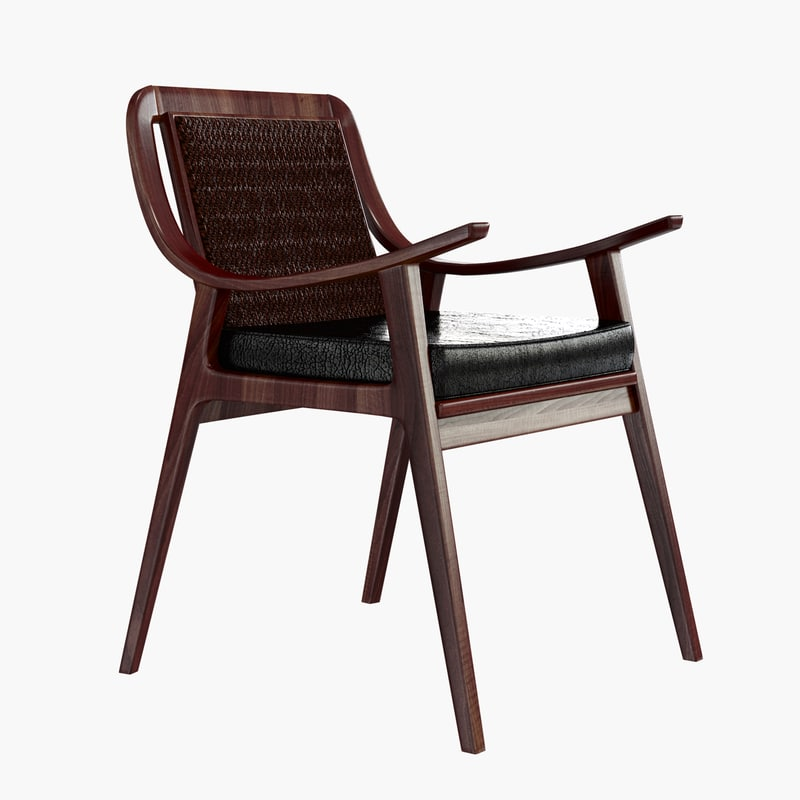 3d model of classical armchair