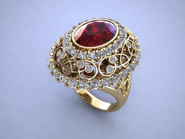 3d model ring vintage