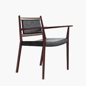 3d model of steffan larsen armchair chair design