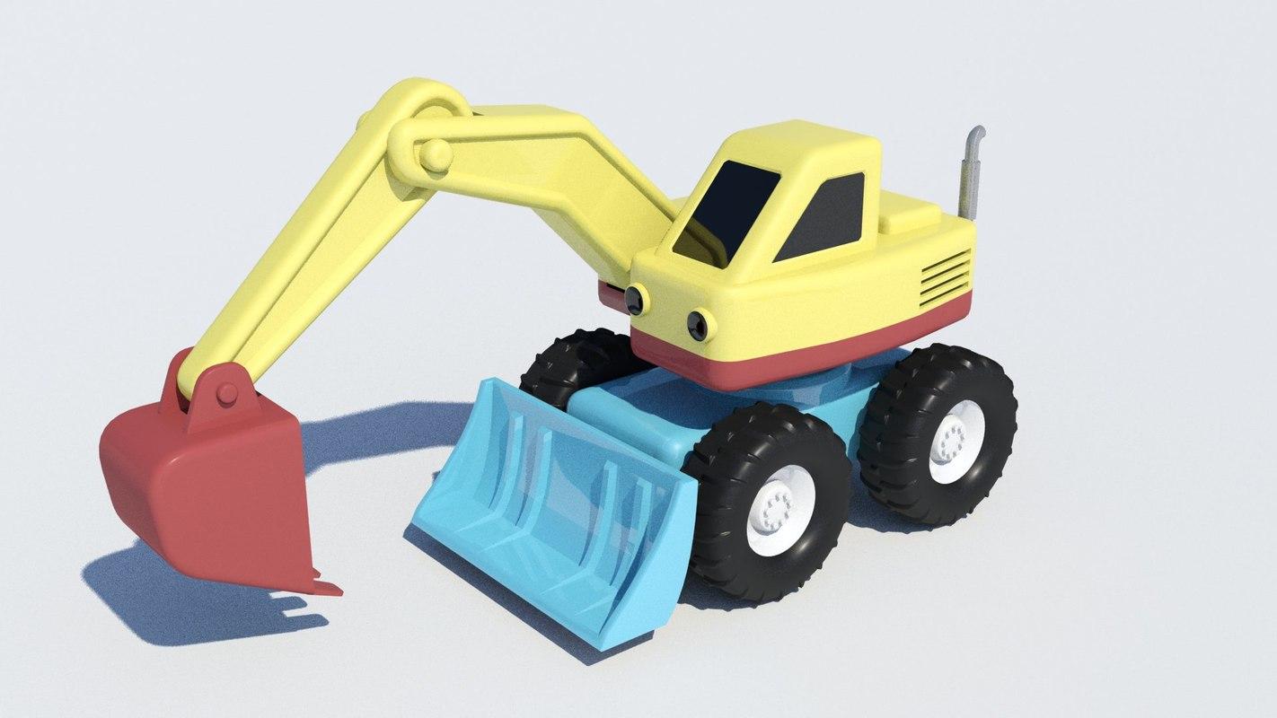 3d toy digger