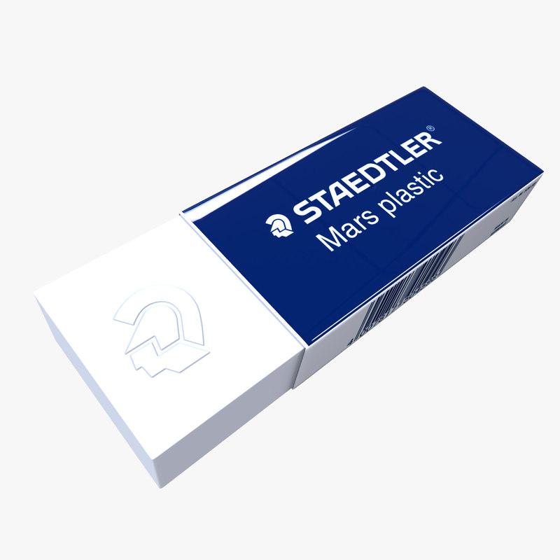 staedtler eraser 3d model