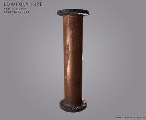 3d model rusty pipe -