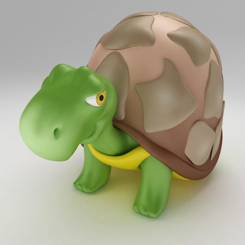 turtle tortoise old 3d max