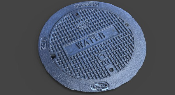 water utility cover 3d obj