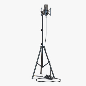 condenser microphone stand generic 3d model