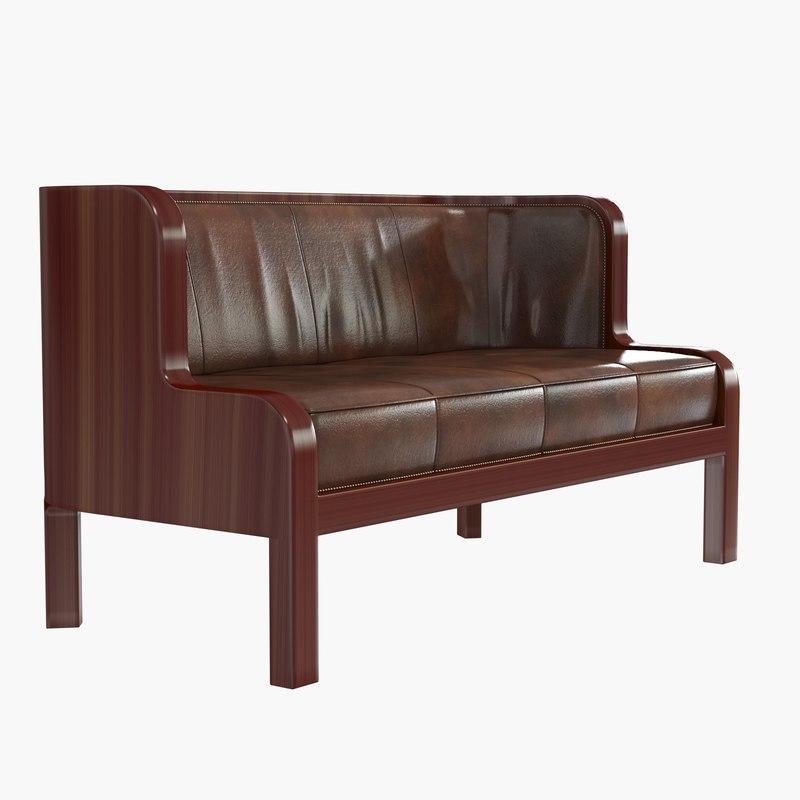 3d jacob kjaer leather sofa