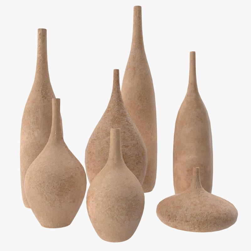 vases set 3ds
