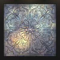 stained glass 3d model