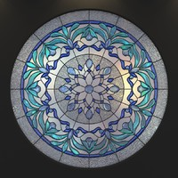 stained glass 3d x
