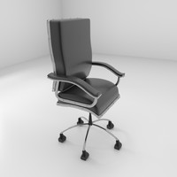 leather rotating chair 2 3d obj