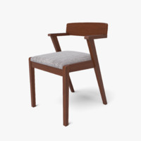 Zola Coral Gray and Cocoa Dining Chair