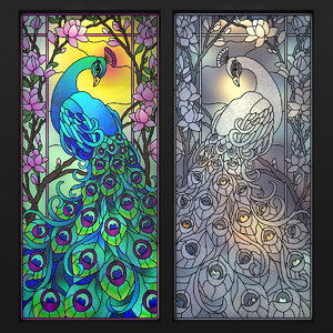 stained glass peacock 3d max