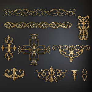 3d carved elements-1 model