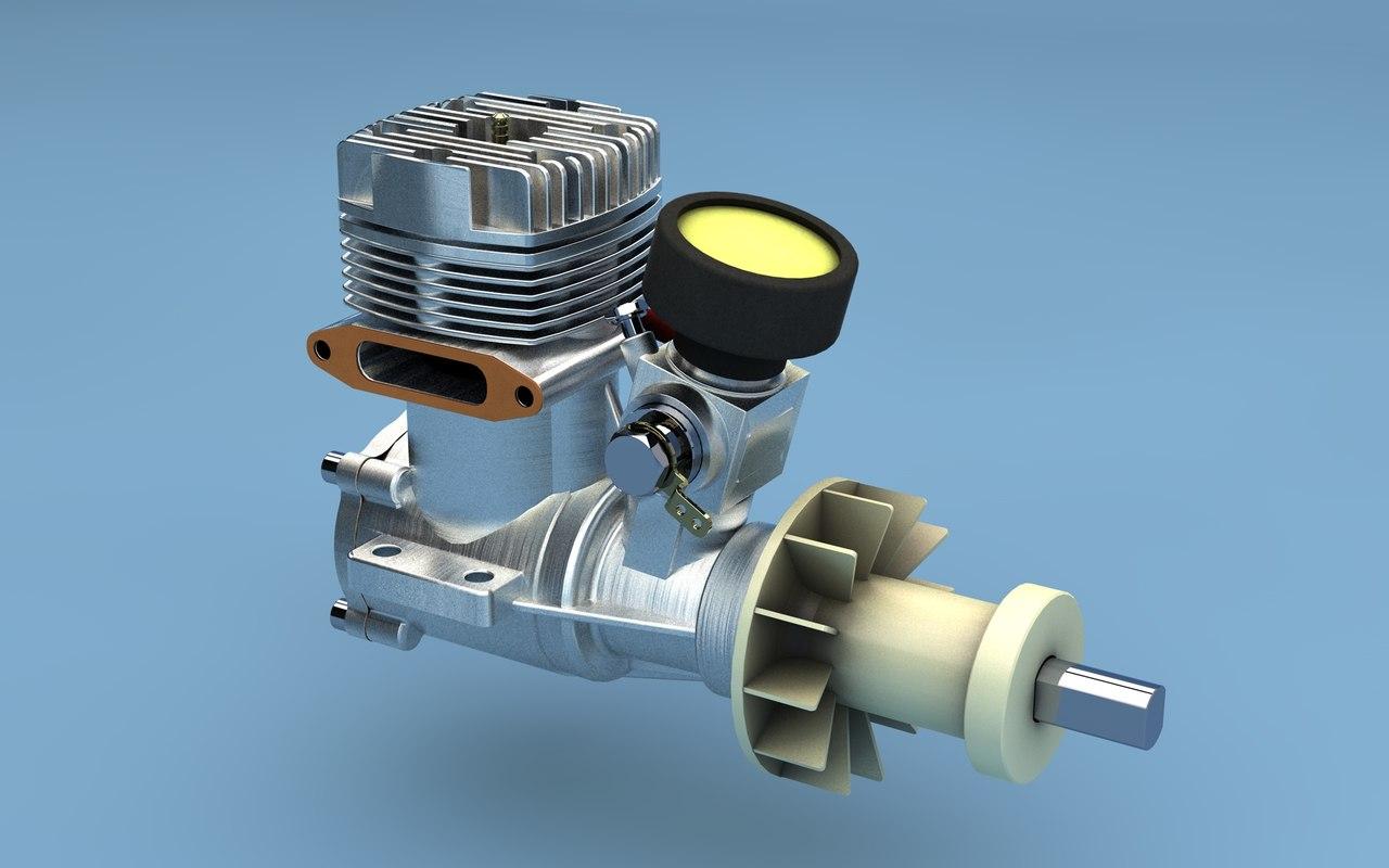 3d rc engine
