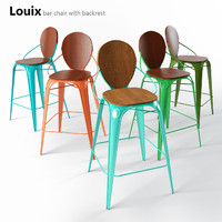 Louix bar chair with backrest