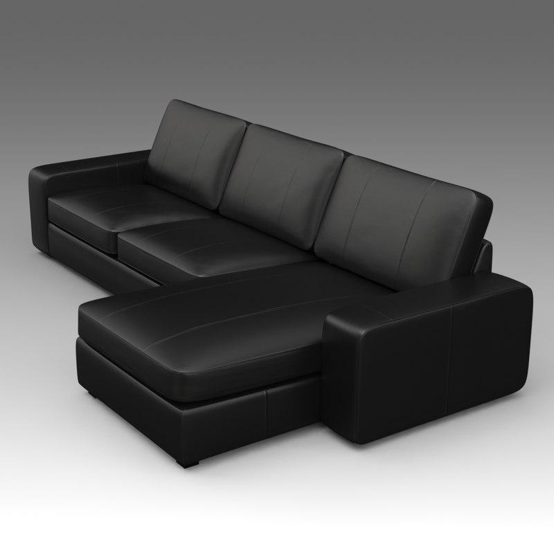Sofa and chaise KIVIK IKEA_002