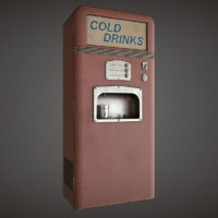 soda machine pbr v-ray 3d model