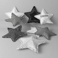 3d model pillow stars