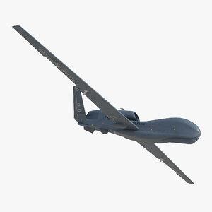 rq 4 global hawk 3d model
