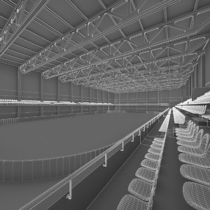 3d model ice hockey interior