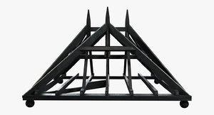 roofline restoration hardware 19th 3d model