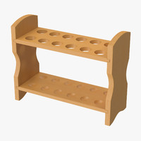 3d wooden test tube rack