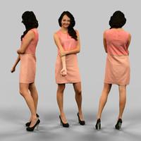 3d girl dress