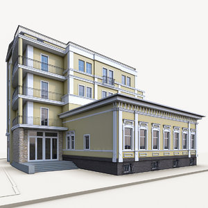 3d max traditional residential building