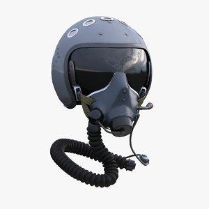 3d model of pilots helmet