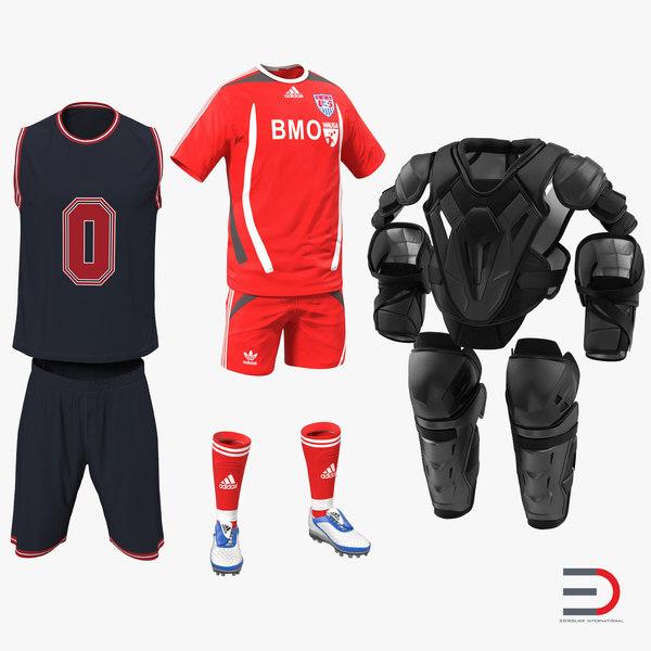 sport clothes modeled soccer 3d model