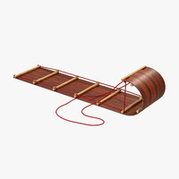 3d model toboggan sled
