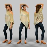 3d model girl posing