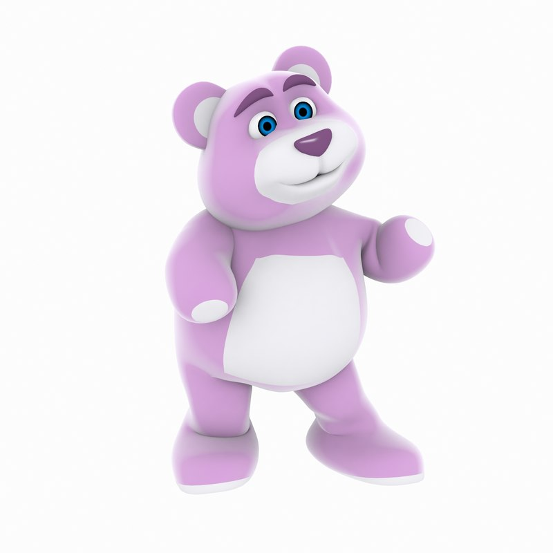 3d rigged bear model