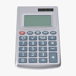 pocket calculator 3d max